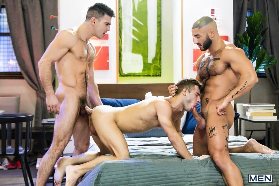 Nude Men Threesome